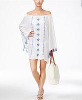 Raviya Embroidered Off-The-Shoulder Cover-Up