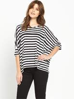 BOSS ORANGE Tabig Stripe Top - Black/White