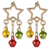 Bell George Star Drop Christmas Earrings