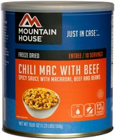 Mountain House Chili Mac with Beef Meals - 10 Servings