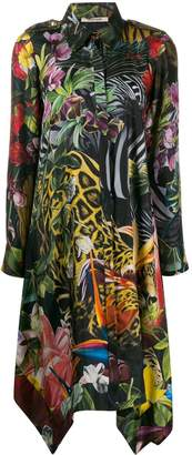 Roberto Cavalli jacquard-print shirt dress