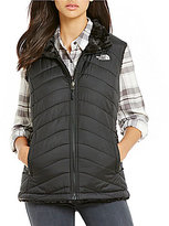 The North Face Mossbud Swirl Fleece Water-Repellent Reversible Vest