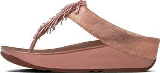 FitFlop Cha Cha Leather Toe-Post Sandals