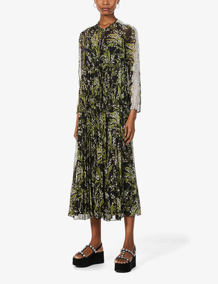 RED Valentino May Lily floral-print satin midi dress