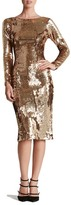 Dress the Population Emery Scoop Back Sequin Sheath Dress