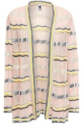 M Missoni Striped Crochet-knit Cotton-blend Cardigan