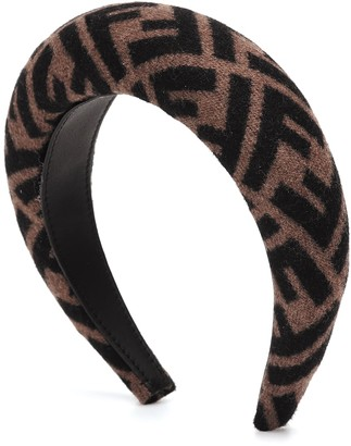 Fendi Printed wool and cashmere headband