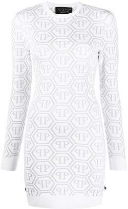 Philipp Plein Logo Knitted Dress