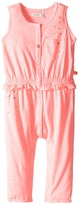 Ikks Jersey Jumpsuit with Metallic Polka Dots & Button Up Front Snaps Up (Infant)