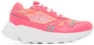 Junya Watanabe Pink Hi-Tec Edition Synthetic Leather Sneakers