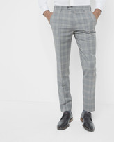 Debonair Checked Wool-mohair Trousers
