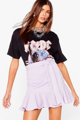 Nasty Gal Womens Dance Frill Dawn Belted Mini Skirt - Lilac