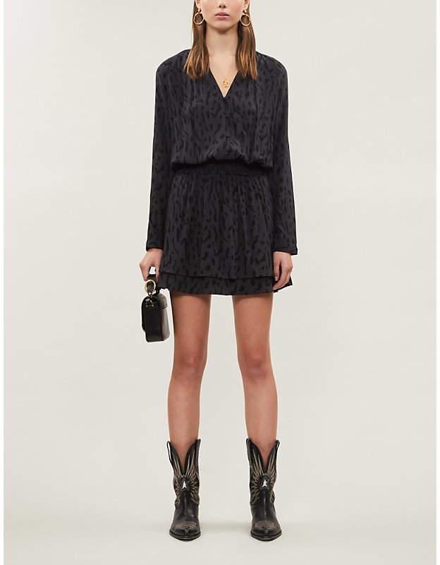Rails Jasmine cheetah-print stretch-jersey mini dress