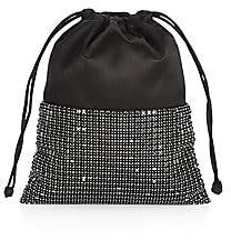 Alexander Wang Women's Mini Ryan Rhinestone Leather Dust Bag