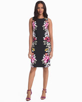 White House Black Market Floral Knit Sheath Dress