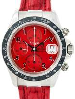 Tudor Prince Date 79260P Stainless Steel / Leather with Red Dial Automatic 40mm Mens Watch