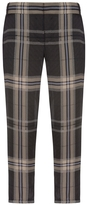 Vera Wang Plaid Print Silk Pants