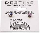 Crystallite Destine Violet Snowflake Earrings