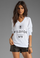 Wildfox Couture #9 V Neck Baggy Beach Jumper