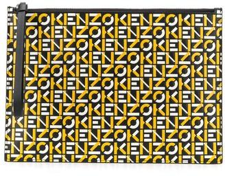 Kenzo Logo-Print Clutch Bag