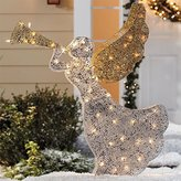 Brylanehome Pre-Lit Beaded Glitter Angel (Silver Gold,0)