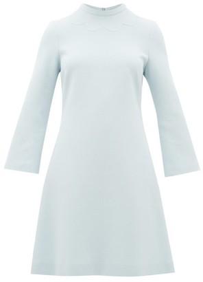 Goat Juno Wool-crepe Dress - Light Blue