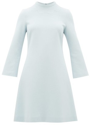 Goat Juno Wool-crepe Dress - Womens - Light Blue