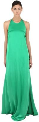 Rochas Long Envers Satin Dress