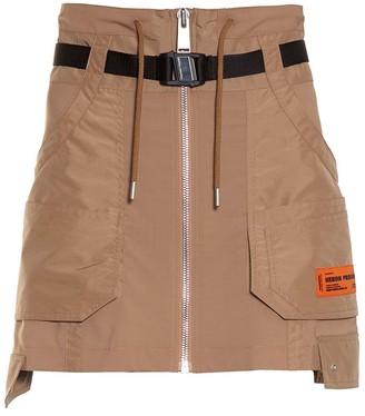 Heron Preston Caramel Cargo Skirt
