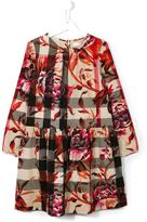 Burberry peony rose print check dress - kids - Cotton - 14 yrs