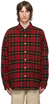 Mastermind Japan Red Flannel Oversized Shirt