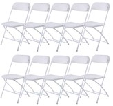 Vinyl Folding Chair Ktaxon Color: White