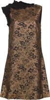 Lanvin Gold Cloque Mini Dress