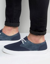Pointer Chester Plimsoll In Canvas And Suede