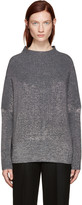 Jil Sander Grey Lurex Turtleneck