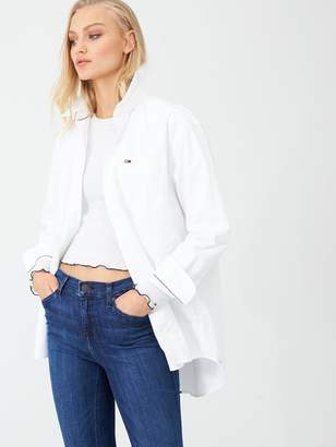 Tommy Jeans Classics Boyfriend Fit Shirt - White