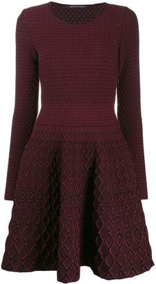Valenti Antonino geometric flared dress