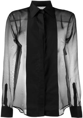 Helmut Lang Sheer Tux Shirt