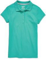 Izod Short-Sleeve Interlock Polo - Girls 7-18 and Plus