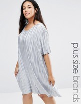 Alice & You Plisse T-Shirt Swing Dress