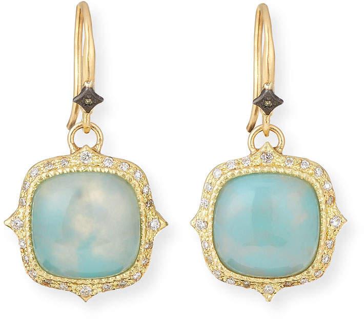 Armenta Old World 18k Aquaprase Drop Earrings