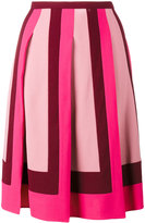 Valentino pleated crepe skirt
