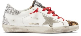 Golden Goose Superstar Glitter-panelled Leather Trainers - White Multi