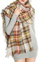 Topda123 Soft Plaid Tartan Fashion Blanket Pashmina Scarf Shawl Wraps