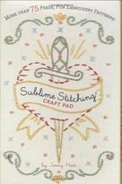 Chronicle Books Sublime Stitching Craft Pad