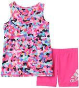 adidas Baby Girl Mosaic Tank Top & Shorts Set