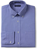 Classic Men's Big & Tall Pattern No Iron Supima Pinpoint Buttondown Collar-White/Admiral Blue Stripe