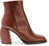 Tibi Rachel Leather Ankle Boots - Brown