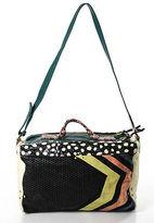 Raoul Jerone Dreyfuss Multi-Color Leather Suede Single Strap Shoulder Handbag