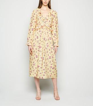 New Look Floral Frill Midi Dress
